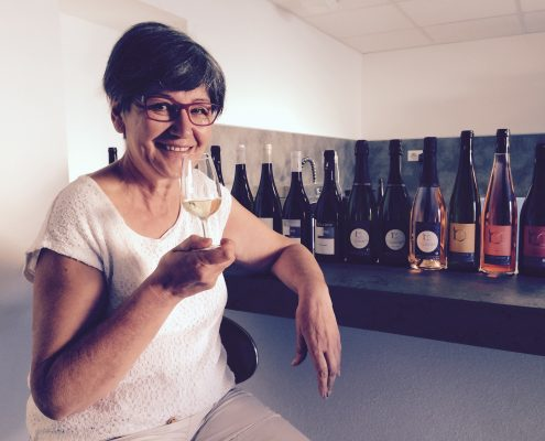 Marie-Françoise Cormerais en dégustation